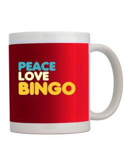 Peace Love Bingo Mug