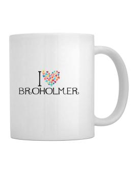 I love Broholmer colorful hearts Mug