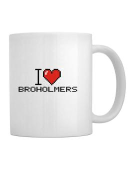 I love Broholmers pixelated Mug