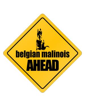 Belgian Malinois Bites Ahead ! Crossing Sign