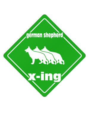 German Shepherd X-ing / Xing Iii Crossing Sign
