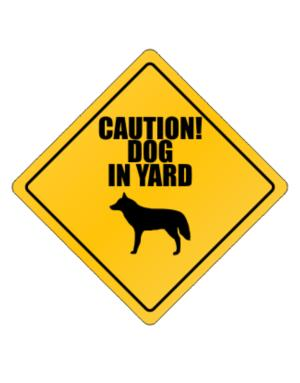 """ Dog in Yard Wolfdog "" Crossing Sign"
