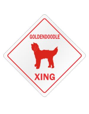 Goldendoodle Xing Crossing Sign
