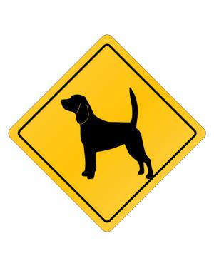 Crossing Sign de Beagle Crossing Sign