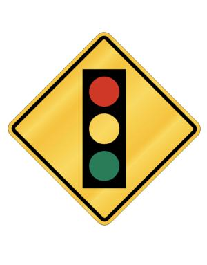 Traffic Light ahead Crossing Sign