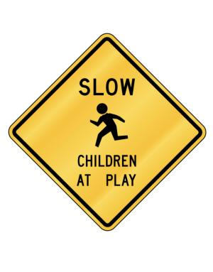 Crossing Sign de Slow - Children at play
