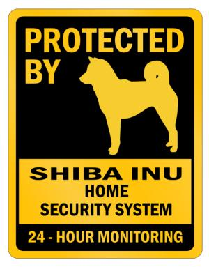 Protected by Shiba Inu Home Parking Sign