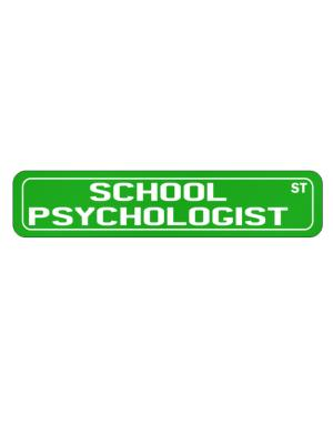 Street Sign de School Psychologist St