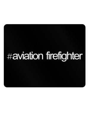 Hashtag Aviation Firefighter Parking Sign - Horizontal