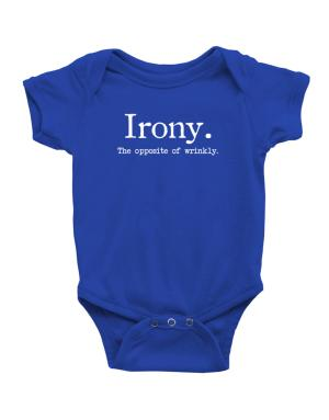Irony the opposite of wrinkly Baby Bodysuit