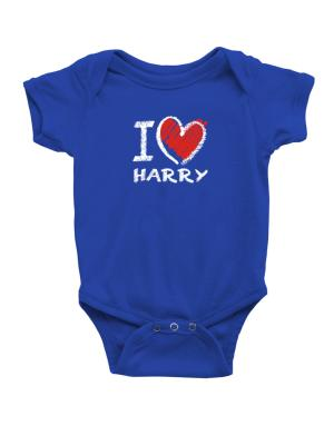 Enterizo de Bebé de I love Harry chalk style