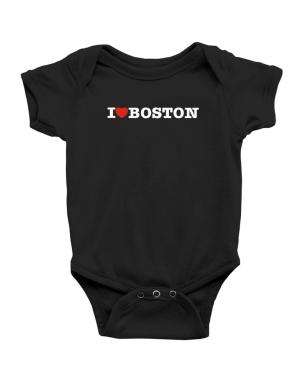 I Love Boston Baby Bodysuit