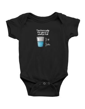 Technically the glass is always full! Baby Bodysuit