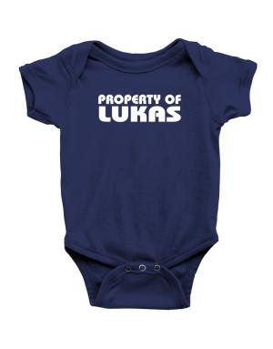 "Enterizo de Bebé de "" Property of Lukas """