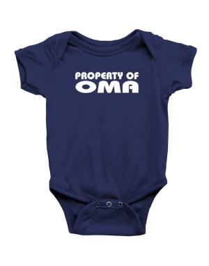 """ Property of Oma "" Baby Bodysuit"