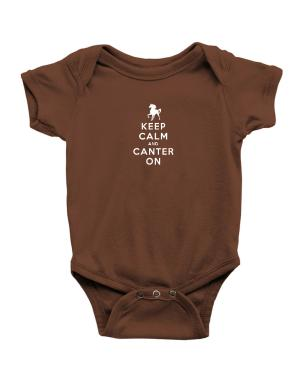 Keep calm and canter on Baby Bodysuit