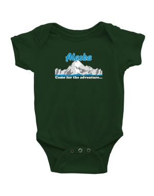 Come for the adventure Alaska Baby Bodysuit