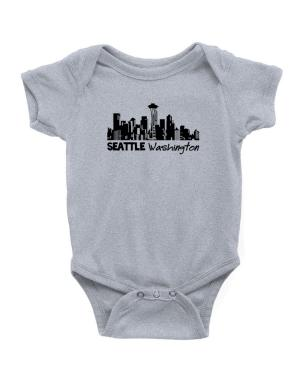 Seattle, Washington skyline Baby Bodysuit