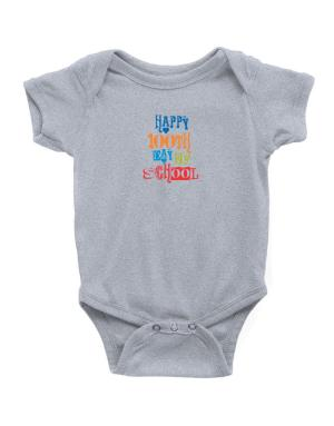 Happy 100th day of school cool style Baby Bodysuit