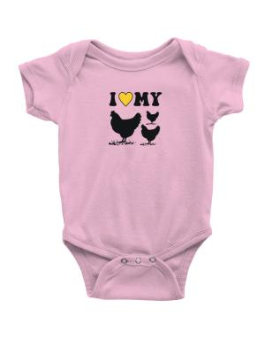 I love my chickens Baby Bodysuit