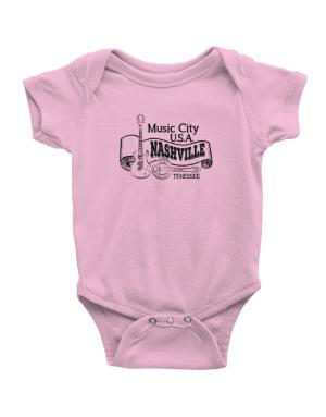 Music city Usa Nashville Tennessee Baby Bodysuit