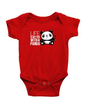 Enterizo de Bebé de Life is better with a panda