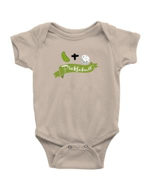 Pickle plus ball equals pickleball Baby Bodysuit
