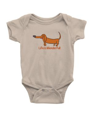 Dachshund life is Wienderful! Baby Bodysuit