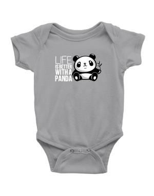 Life is better with a panda Baby Bodysuit