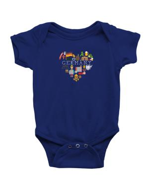 I love Germany Baby Bodysuit