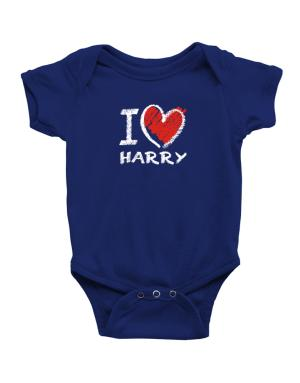 I love Harry chalk style Baby Bodysuit