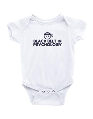 Black Belt In Psychology Baby Bodysuit