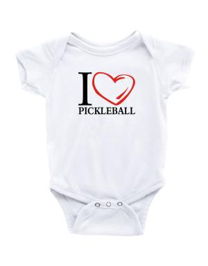 I Love Pickleball Baby Bodysuit