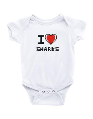 Enterizo de Bebé de I Love Sharks