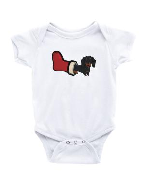 Dachshund Stocking Stuffer Baby Bodysuit