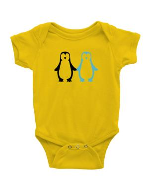 Penguin Always together Baby Bodysuit