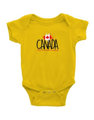 Canada my favorite country Baby Bodysuit