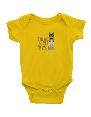 It will always be fast & adorable Belgian malinois Baby Bodysuit