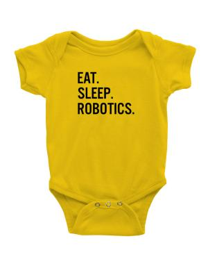 Eat sleep robotics Baby Bodysuit