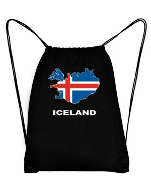 Iceland - Country Map Color Sport Bag