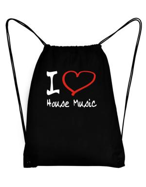I Love House Music Sport Bag