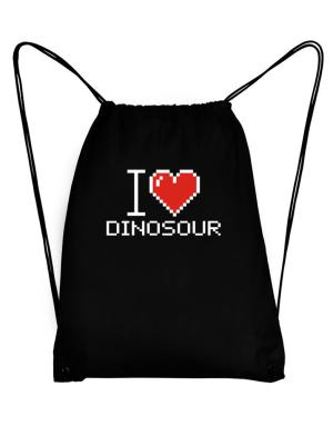 I love Dinosour pixelated Sport Bag