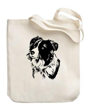 Border Collie Face Special Graphic Canvas Tote Bag