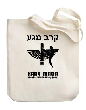 Krav Maga Hebrew Canvas Tote Bag
