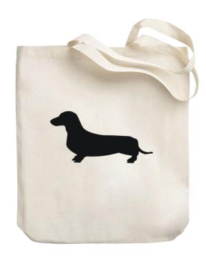 Dachshund SIlhouette Canvas Tote Bag