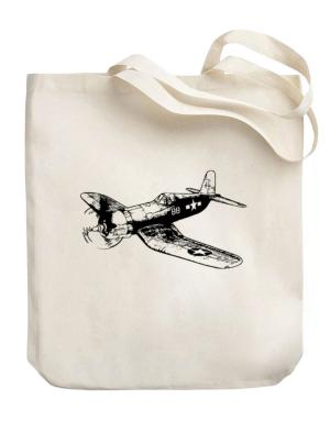 WW2 Airplane Canvas Tote Bag