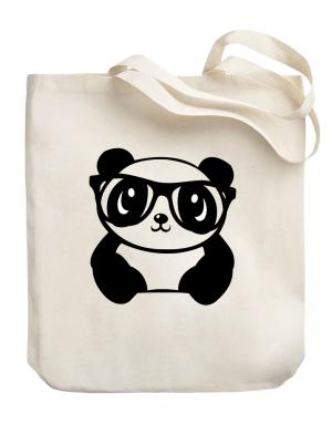 Hipster baby panda Canvas Tote Bag