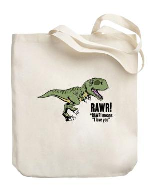 Bolso de Rawr means I Love You in dinosaur