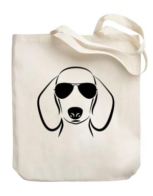 Dachshund Sunglasses Canvas Tote Bag