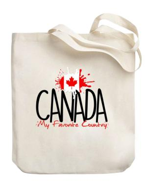 Canada my favorite country Canvas Tote Bag